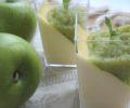 Panna cotta salvia e mela verde
